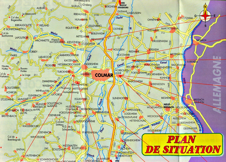 Plan de Colmaret environs